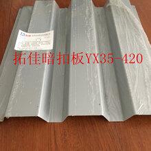 YX35-420横装梯型暗扣板图片