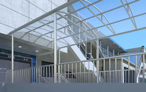 钢化玻璃雨篷,钢结构玻璃雨棚,阳光板雨篷,天幕遮阳蓬