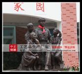 校园人物雕塑-铸铜人物雕塑-铜雕名人雕塑-生产校园人物雕塑-人物铜雕厂图片