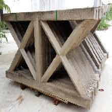 道路仿木护栏批发X型仿木栏杆仿木围栏栈道栏杆扶手木纹护栏图片