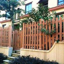 天津薊州區塑木圍欄定做pvc護欄景區圍欄廠家直銷圖片