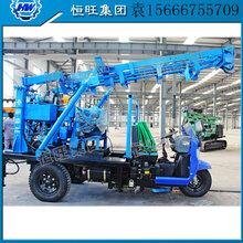厂家直销农用三轮车打井机三轮车载水井钻机移动方便