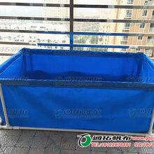 广东养殖场专用帆布鱼池定做_广州水产活鱼过滤池配件批发图片