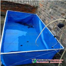 轻便运输篷布鱼池加工_渔场养殖专用鱼池定做多少钱_PVC篷布生产厂图片
