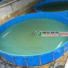 结实耐用涂层布鱼池定做_厂家优质养殖帆布鱼池_养鱼养虾帆布鱼池定做图片