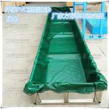 锦鲤养殖池折叠帆布水池_防水油布篷布鱼池图片
