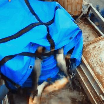 防雨篷布-人力搬运鱼布袋定制加-折叠式装桂花鱼水袋