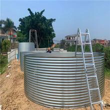 厦门蓄水池蓬布定做生产厂-镀锌水箱养殖-帆布水池JD600A3批发图片