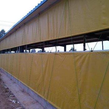 加厚材质卷帘机械_养殖场篷布卷帘机安装_PVC夹网布