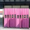 高青县超大透明窗口皮革棉门帘长期供应