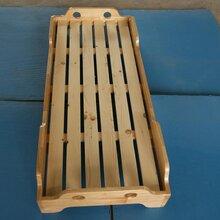 幼儿园儿童木床木制儿童床价格木制童床厂家幼儿园组合木床专卖图片