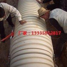 供应白色硬pvc-u双壁波纹管图片