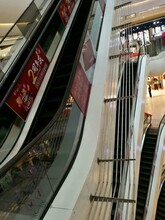 北京市營業中商場加裝電梯扶梯安全防墜護欄圖片