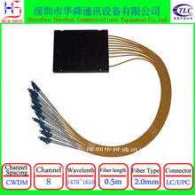 8CH单纤双纤CWDM尾纤式1分8合波器分波器粗波分复用器图片