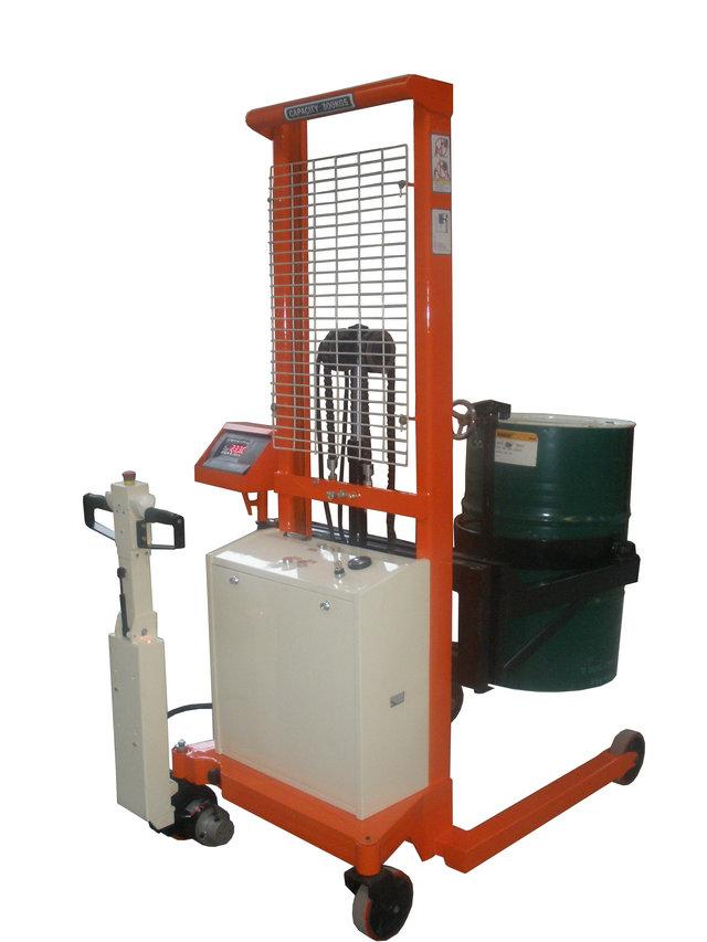 涂料厂100kg带电子秤的油桶车