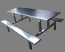 貴州學校不銹鋼食堂快餐桌椅生產廠家