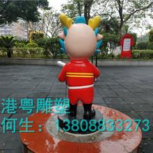 东莞玻璃钢公园雕塑树脂工艺品雕塑消防人雕塑