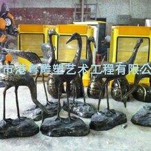 东莞玻璃钢丹顶鹤雕塑玻璃纤维仿真动物小品摆件