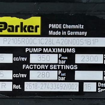 P2105R00C1C28LA20N00S1B1P美国派克PARKER