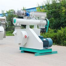 鱼虾饲料颗粒机价格小型饲料加工设备250环膜一吨饲料机山东厂家图片