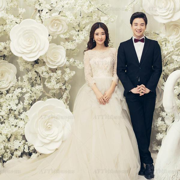韩式婚纱照风格图片-att时尚