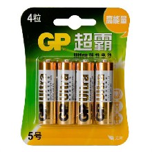 超霸碱性5号电池GP15A-L44粒/卡