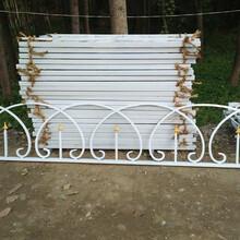 围场铸铁绿化栏杆承德铁艺草坪护栏河北PVC花坛护栏厂家图片