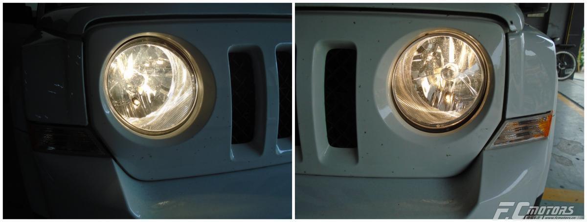 惠州氙气灯升级惠东吉普自由客升级原装海拉五透镜,吉普自由光改灯