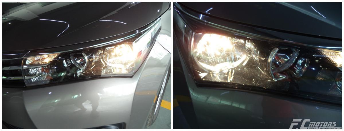 惠州氙气灯升级惠东丰田卡罗拉升级原装海拉五透镜,丰田改灯