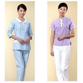 青岛医护人员白大褂生产厂家护士服各种款式一次性病人服订做厂家