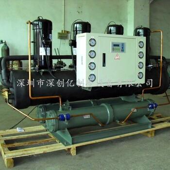宁波冰水机现货直供15HP水冷开放式冷水机