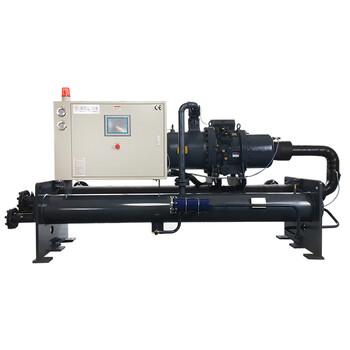 建筑業專用岳陽冷凍機廠家熱銷180HP水冷螺桿式冷水機