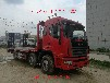 最畅销的大运平板运输车国五蓝牌可拉十吨以内挖机卡车