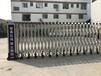 可移动伸缩护栏电动伸缩门铝合金伸缩围栏金钢路障