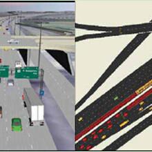 交通仿真軟件TransModeler,車輛仿真、行人仿真、收費站圖片