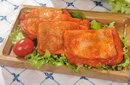 奥尔良鸡腿肉,汉堡制作必备,奥尔良鸡腿排汉堡图片