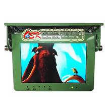 欧视卡品牌军绿色10.1寸前折吸顶车载显示器高清工控屏宽电压