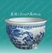 供应手工陶瓷大缸景德镇青花陶瓷鱼缸