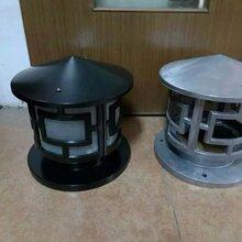 中山厂家生产户外柱头灯围墙灯LED柱头灯圆形压铸中字柱头灯图片