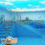 陕西亚克力婴儿游泳池厂家供婴幼儿游泳池设备组装戏水池