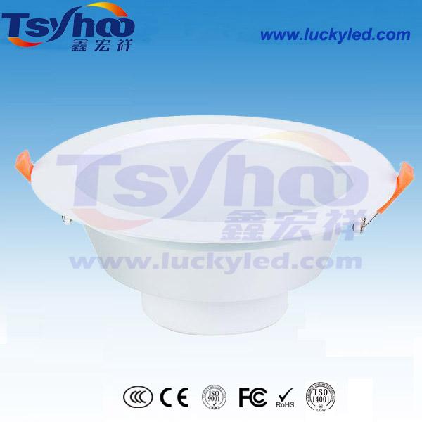 商场用低价格8寸18W白色铝外壳筒灯后背式电源高显指贴片LED筒灯