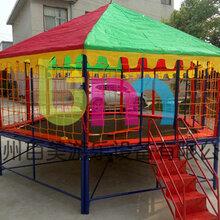 新款圆形儿童钢架跳跳床,造型奇特钢架蹦蹦床价格优惠中图片