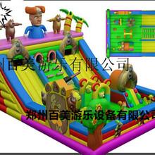在四川成都广场做熊出没儿童充气城堡生意怎么样?图片