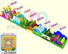 重庆永州惊现一款超大型儿童陆地U型闯关赛道蹦床火力四射