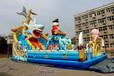 遼寧鞍山廣場大型氣墊蹦蹦床,兒童充氣城堡親子游樂趣味多