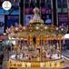 辽宁本溪室外豪华转马,广场儿童旋转木马彩色灯光是一大卖点