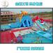 賀喜河北保定景區成人移動水上樂園大型支架游泳池正式開園