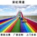 山西朔州美麗鄉村七彩滑道為游客帶來歡笑