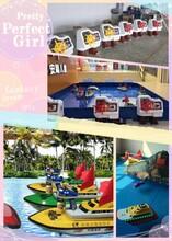 广州新款仿真舵式遥控船方向盘遥控船儿童游乐设备