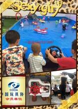 新兴公园广场儿童水上方向盘遥控船真好玩